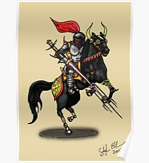 BLACK KNIGHT ON HORSE Poster