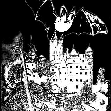 Dracula's Castle (Bran Castle in Romania) T-Shirt etc. design by ZipaC