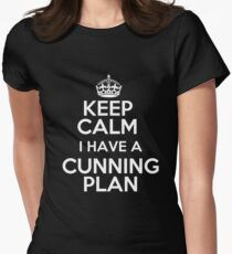Keep Calm - I have a cunning plan Womens Fitted T-Shirt
