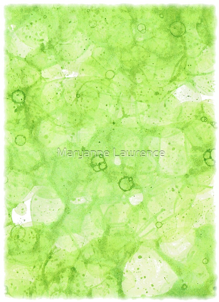 Green Bubbles by Maryanne Lawrence