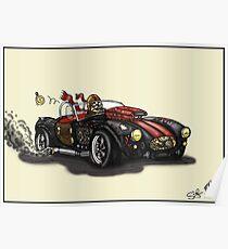 Steampunk Cobra (yellow) Poster