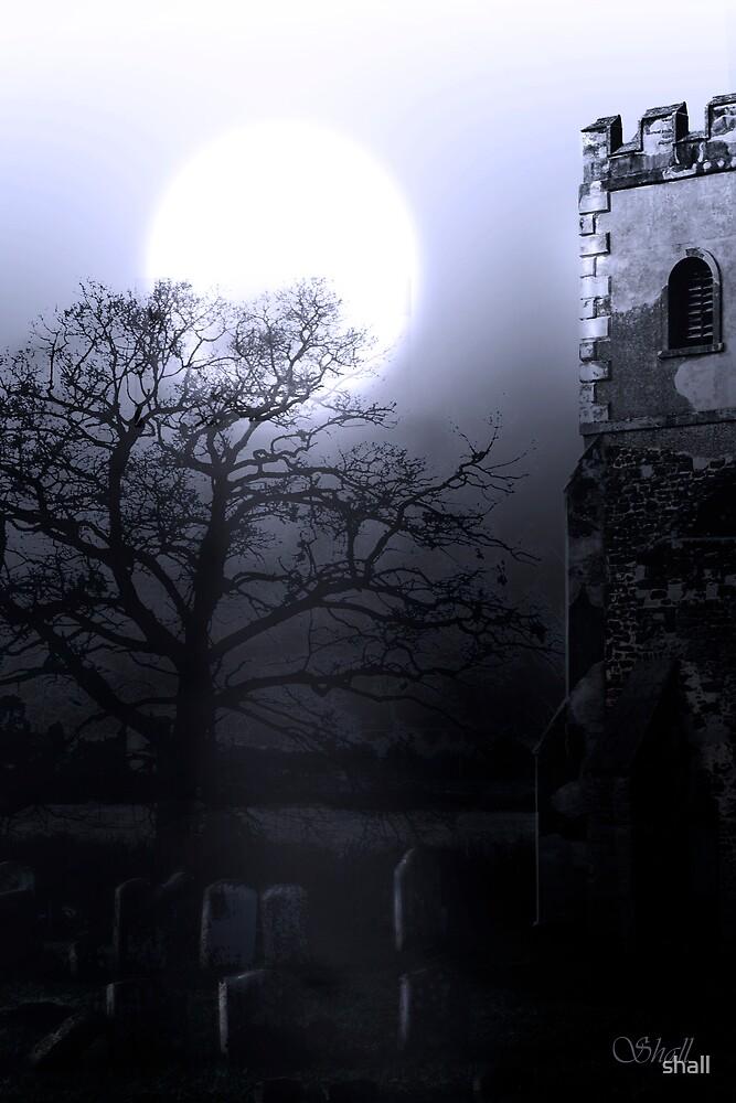 Moonlit Church by shall