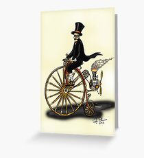STEAMPUNK PENNY FARTHING Greeting Card