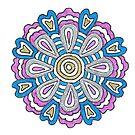 July's Mandala by Maryanne Lawrence