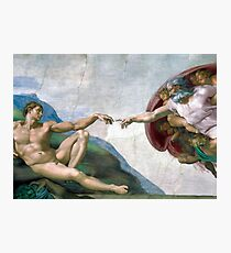 The Creation of Adam Photographic Print
