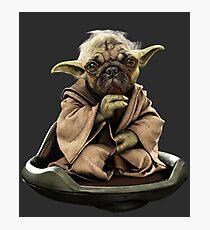 Yoda Pug Star Wars Tee Photographic Print