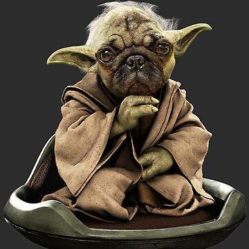 Yoda Pug Star Wars Tee by Bubolina