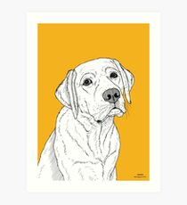 Labrador Dog Portrait Art Print