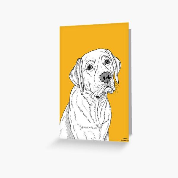 Labrador Dog Portrait Greeting Card