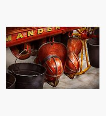 Fireman - Hats - I volunteered for this  Photographic Print