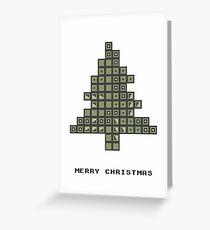 Tetrismas Tree Greeting Card