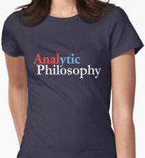 Analytic philosophy, style two  Womens Fitted T-Shirt
