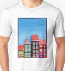 3D Oil Painting og Copenhagen, Nyhavn T-Shirt