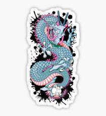 Peach Melba Splash Dragon Tattoo by Moose Disco Sticker