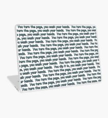 Turn the Page, Wash Your Hands... Laptop Skin