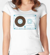 Audio Cassette Tape Women's Fitted Scoop T-Shirt