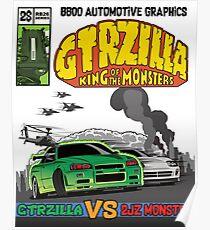 GTRZILLA R34 (1 of 2 VERSION) Poster