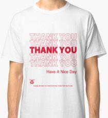 Camiseta clásica camisa de bolsa de plástico - gracias