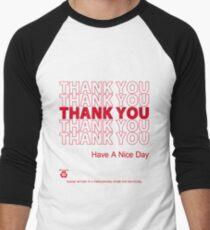 plastic bag shirt - thank you Men's Baseball ¾ T-Shirt
