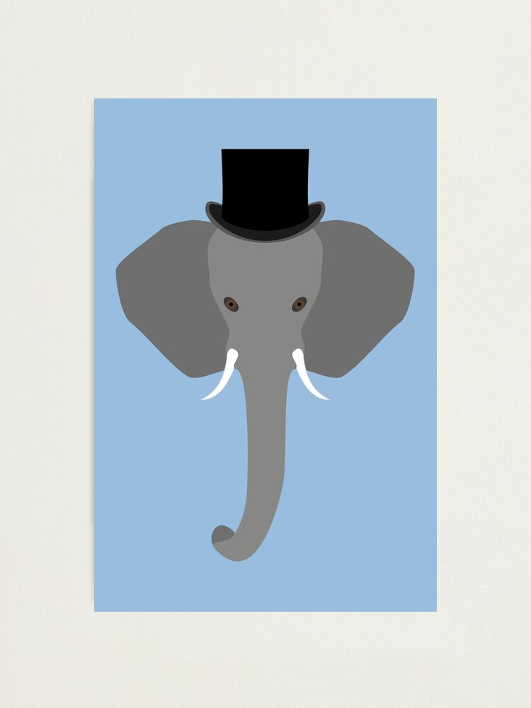 Alternate view of NDVH Elephant Wearing a Top Hat Photographic Print