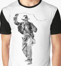 Indiana Jones Hand-drawing Graphic T-Shirt