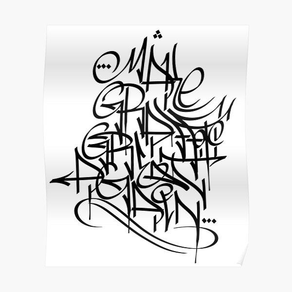 Make Graffiti Great Again Calligraffiti hand style Tag Poster