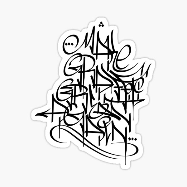 Make Graffiti Great Again Calligraffiti hand style Tag Sticker