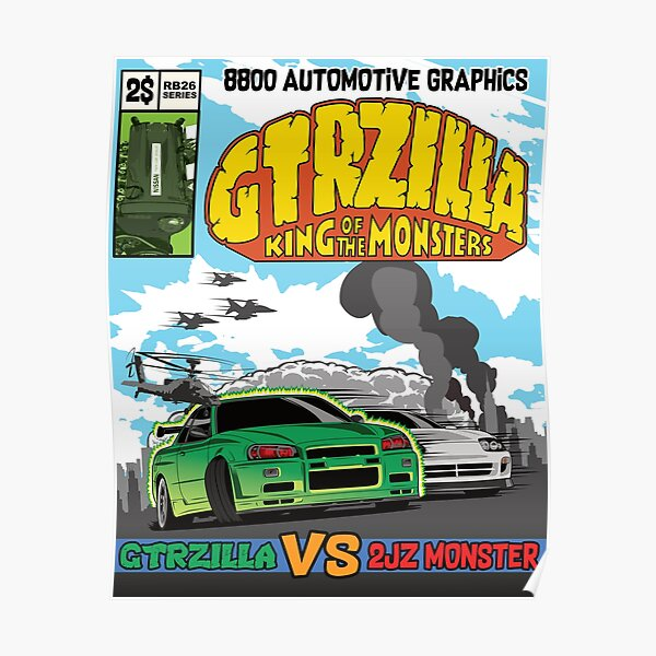 GTRZILLA R34 (2 of 2 VERSION) Poster