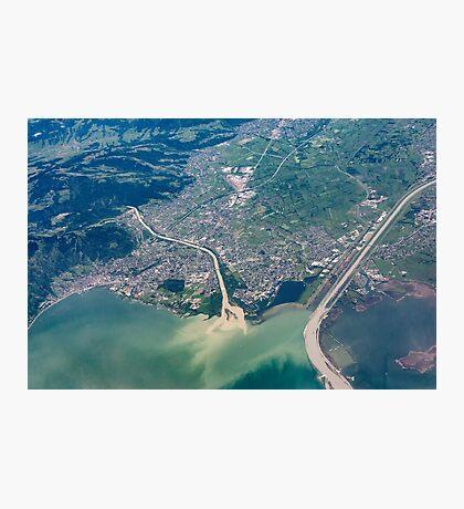 Bregenz: River Rhine entering Lake Constance Photographic Print