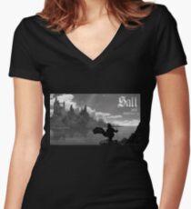 Dark Sanctuary Women's Fitted V-Neck T-Shirt