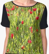 Flanders Poppies Chiffon Top