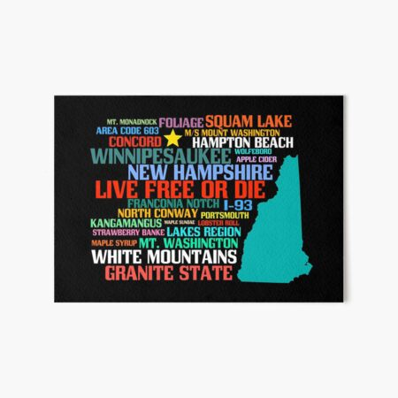 New Hampshire Native Art Board Print