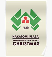 Nakitomi Plaza - Action movie Christmas Poster