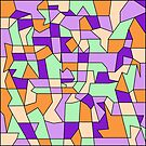 Pastel Contrast Geometric Abstraction by camzhu
