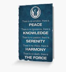 Star Wars - The Jedi Code Greeting Card