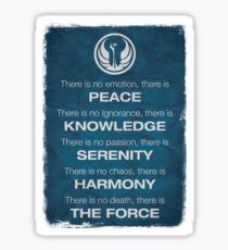 Star Wars - The Jedi Code Sticker