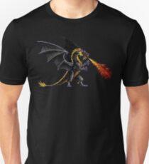 Camiseta ajustada Poder y magia Dragón negro