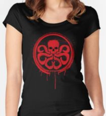 Hydra logo splatter Women's Fitted Scoop T-Shirt