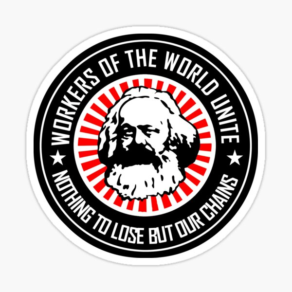 KARL MARX - WORKERS UNITE Sticker