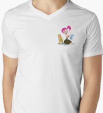 Mitzi At Work Men's V-Neck T-Shirt