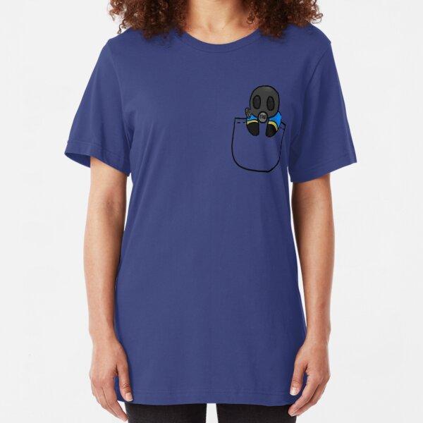 TeamFortress 2 Pocket Pyro (Blue) Slim Fit T-Shirt
