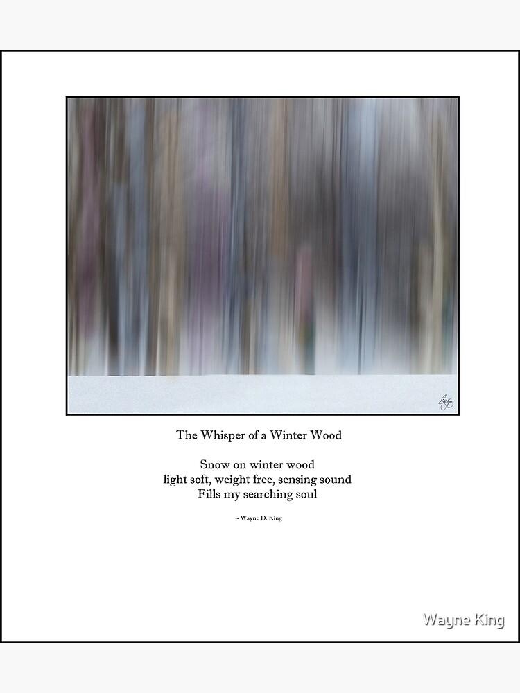 The Whisper of a Winter Wood Redux Haiku by waynedking