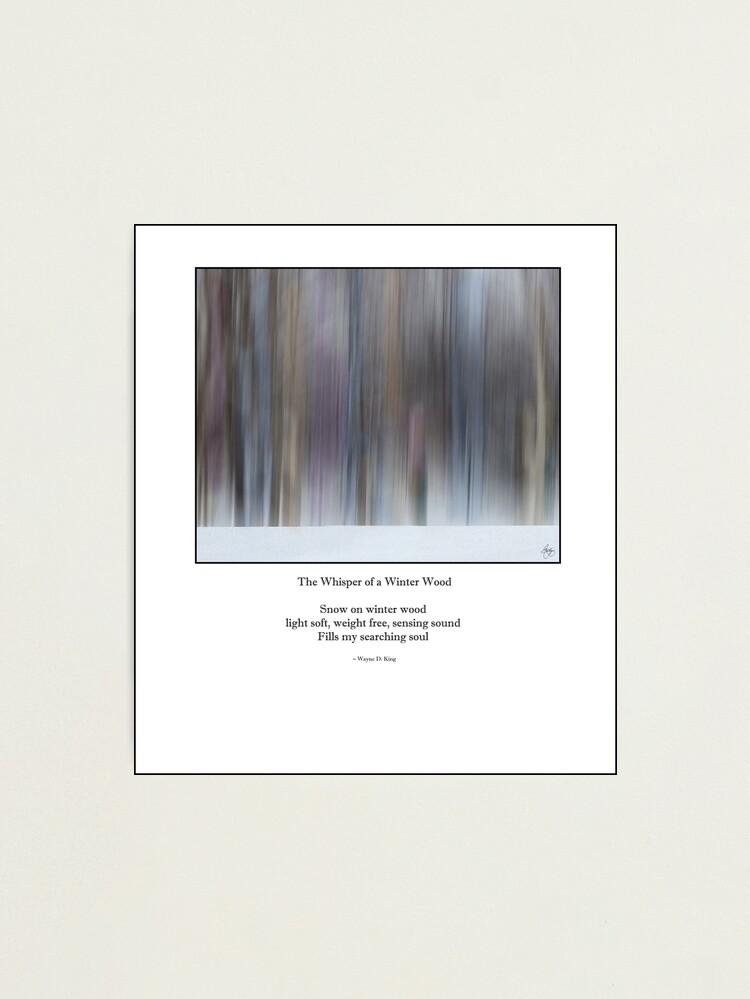 Alternate view of The Whisper of a Winter Wood Redux Haiku Photographic Print