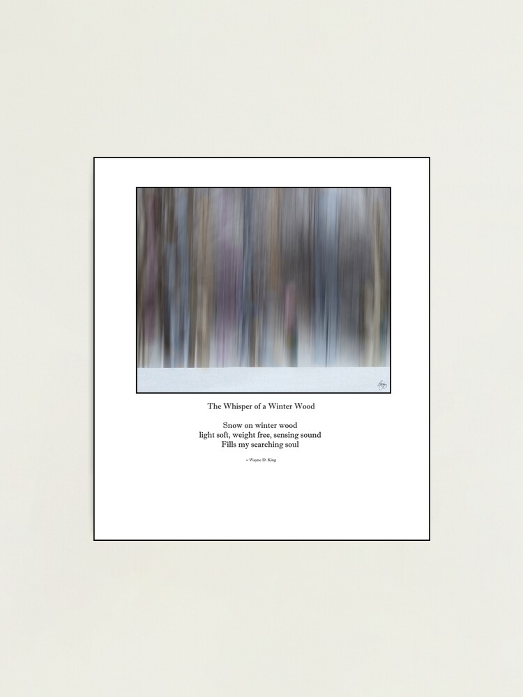Alternate view of The Whisper of a Winter Wood Redux Haiku Photographic Print