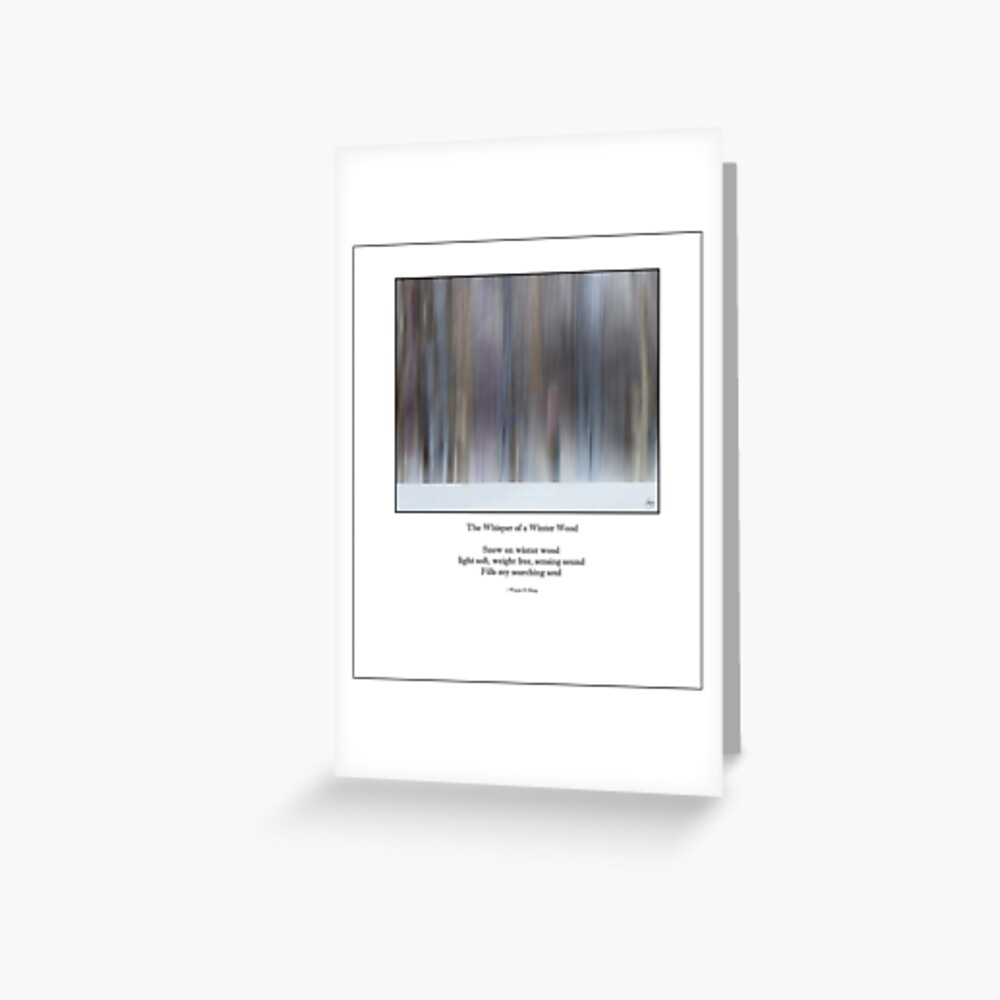 The Whisper of a Winter Wood Redux Haiku Greeting Card
