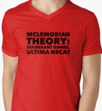Mclemorian Theory- Vulnerant Omnes Men's V-Neck T-Shirt