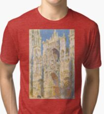 Claude Monet - Rouen Cathedral, West Façade - 1894 Tri-blend T-Shirt