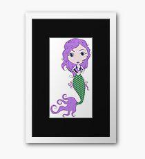 I Heart Mermaids - 2nd of 4 Framed Print