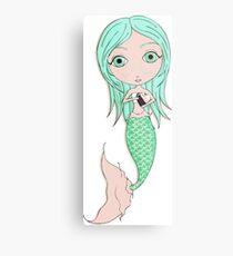 I Heart Mermaids - 3rd of 4 Metal Print