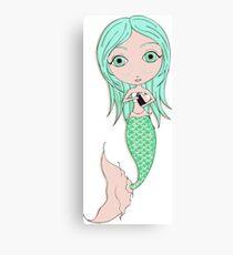 I Heart Mermaids - 3rd of 4 Canvas Print
